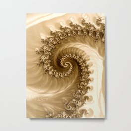 Sound of Seashell Sepia  Metal Print
