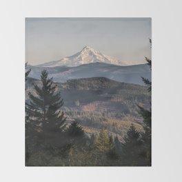 PNW Mount Hood Adventure II Throw Blanket
