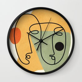 Abstract Faces 19 Wall Clock