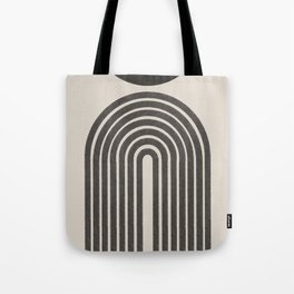 Mid Century Modern Beige and Black  Tote Bag