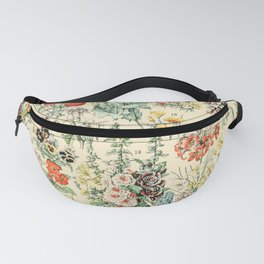 Wildflower Diagram // Fleurs II by Adolphe Millot XL 19th Century Science Textbook Artwork Fanny Pack