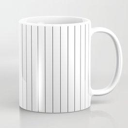 White And Black Pinstripes Lines Stripes Minimalist Stripe Line Kaffeebecher