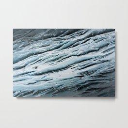 Svinafellsjokulsvegur ice wall in Iceland Metal Print