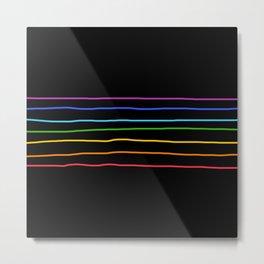 Classic Abstract Minimal LGBT Rainbow Retro Summer Style Stripes #3 Metal Print