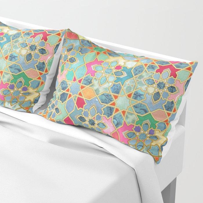 Gilt & Glory - Colorful Moroccan Mosaic Pillow Sham