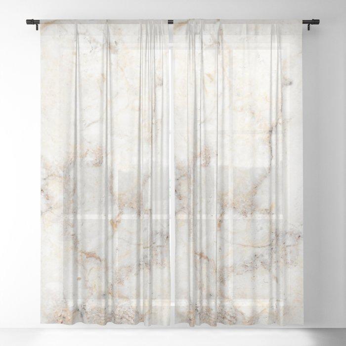 Marble Natural Stone Grey Veining Quartz Sheer Curtain