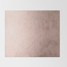 Moon Dust Rose Gold Throw Blanket