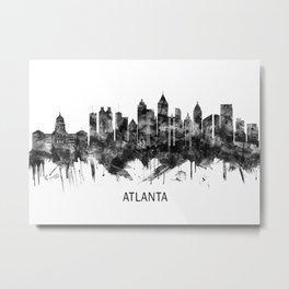 Atlanta Georgia Skyline BW Metal Print
