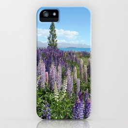Colorful lupine towers iPhone Case