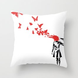 Butterfly HeadShoot Throw Pillow