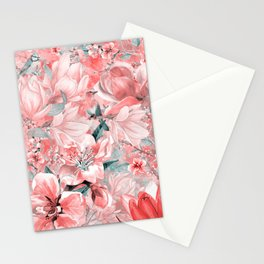 flowers and birds pattern #flowers #pattern Stationery Cards
