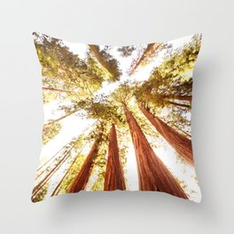 sequoia tree Throw Pillow