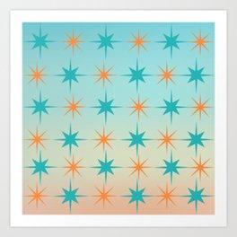 Mid-Century Modern Art Starburst 1.1 Art Print