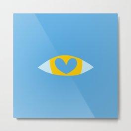 Heart Eye - BLUE Metal Print