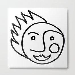 Smiling Face Metal Print