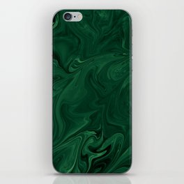 Modern Cotemporary Emerald Green Abstract iPhone Skin