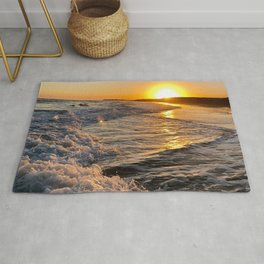 Sea Sunset Sunrise Rug