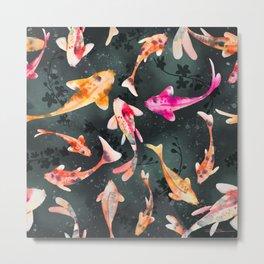 The Koi Pond Metal Print