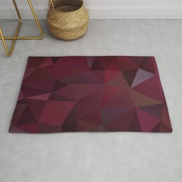 Abstract background of triangles polygon design red marsala colors Rug
