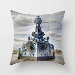USS Texas Throw Pillow