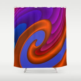 sweeping lines for your home -7- Shower Curtain