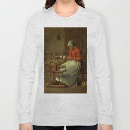 """Jean-François Millet """"Woman Spinning (Femme filature)"""" Long Sleeve T-shirt"""