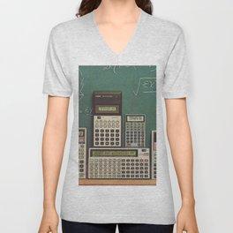 Casio Calculators...the good old days. Unisex V-Neck