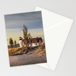 Point Betsie Lighthouse at Sunset Stationery Cards