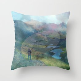 What is Reality? #2, Fun UFO image Throw Pillow