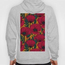 Red poppy garden    Hoody