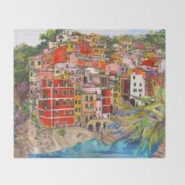 Manarola, Italy  Throw Blanket