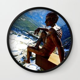 Mirador of the Roc del Quer, Andorra - Travel Photography Wall Clock