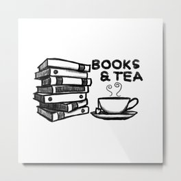 Books & Tea Metal Print