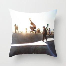 Venice Beach Skate Park Throw Pillow