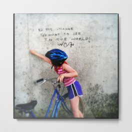 Change the World Graffiti Metal Print