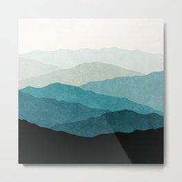 Mountains Fading Metal Print