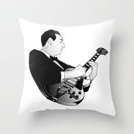LES PAUL House of Sound - WHITE GUITAR Throw Pillow