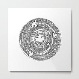 Canadian Maple Metal Print