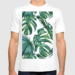 Classic Palm Leaves Tropical Jungle Green T-shirt