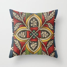Stained Glass from Schloss Stolzenfels Throw Pillow