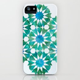 Emerald rosettes - Al-Nasir Muhammad Mosque iPhone Case