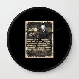James Watt - Wall Clock
