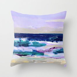 Wave. Beach Painting Series No.16 Throw Pillow
