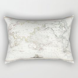 The Voyages of Captain James Cook (1852) by James Cook Rectangular Pillow