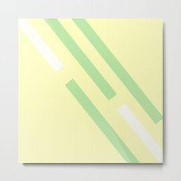Green yellow white Metal Print