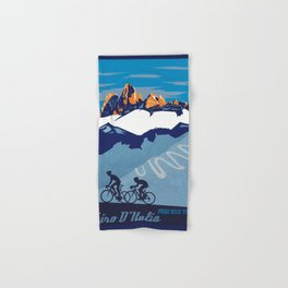 Giro d'Italia Passo Dello Stelvio cycling poster Hand & Bath Towel