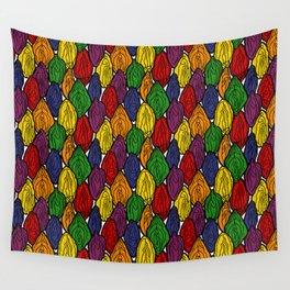 Vagina - Rama in Rainbow Wall Tapestry