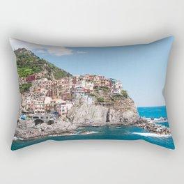 Cinque Terre | Italy City Travel Landscape Coastal Photography Rectangular Pillow