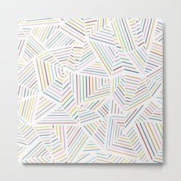 Ab Linear Rainbowz Metal Print