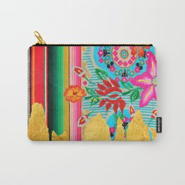 Gold Dipped Boho Serape Dream Carry-All Pouch